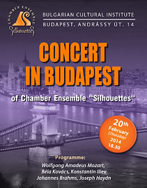 Concert of Chamber ensemble Silhouettes in Budapest, Hungary